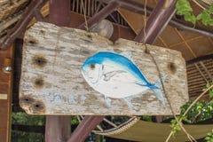 Ζωγραφική φωτογραφιών των ψαριών Trevally στοκ εικόνα
