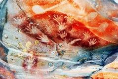Ζωγραφική χεριών φαραγγιών Carnarvon Στοκ Εικόνα