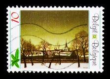 Ζωγραφική, Χριστούγεννα και νέο έτος serie, circa 1990 Στοκ Φωτογραφία