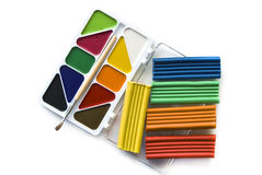 ζωγραφική χρωμάτων αργίλο& Στοκ Φωτογραφίες