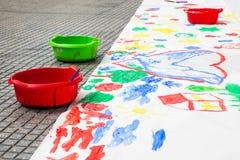 Ζωγραφική χρώματος παιδιών Στοκ Εικόνες