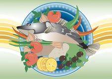 ζωγραφική ψαριών γευμάτων & Στοκ Εικόνες