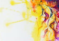 Ζωγραφική ψαριών Διανυσματική απεικόνιση