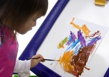 ζωγραφική 5 παιδιών Στοκ φωτογραφίες με δικαίωμα ελεύθερης χρήσης