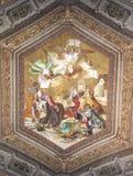 Ζωγραφική Summa των ενάντιων πολυθεϊστών στο μουσείο Βατικάνου Στοκ Εικόνες