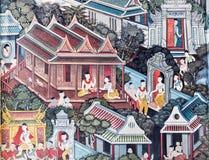 Ζωγραφική Wat Po Στοκ φωτογραφία με δικαίωμα ελεύθερης χρήσης