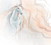 Ζωγραφική watercolor αλόγων ελεύθερη απεικόνιση δικαιώματος