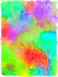 Ζωγραφική Watercolor του ζωηρόχρωμου βαμμένου υφάσματος αφηρημένο ζωηρόχρωμο W Στοκ Φωτογραφίες