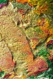 Ζωγραφισμένες στο χέρι αφηρημένες γκουας Στοκ Φωτογραφίες