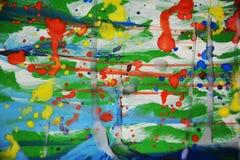 Ζωηρά σημεία που χρωματίζουν το κέρινο αφηρημένο υπόβαθρο watercolor Στοκ φωτογραφίες με δικαίωμα ελεύθερης χρήσης