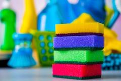 Ζωηρά χρώματα στην έννοια πλύσης Στοκ Φωτογραφίες