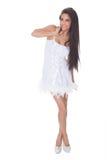 Ζωηρή γυναίκα σε ένα φόρεμα κοκτέιλ Στοκ εικόνες με δικαίωμα ελεύθερης χρήσης