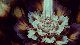 Ζωηρή χρυσή ελαφριά fractal λουλουδιών τέχνη Στοκ φωτογραφία με δικαίωμα ελεύθερης χρήσης