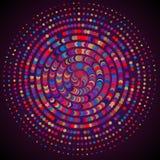 Ζωηροί εορτασμοί χρωμάτων γύρω από το αφηρημένο υπόβαθρο μορίων Γ απεικόνιση αποθεμάτων
