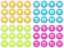 ζωηρός Ιστός κουμπιών απεικόνιση αποθεμάτων