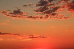 Ζωηρός ουρανός ηλιοβασιλέματος ροδάκινων Στοκ Φωτογραφία