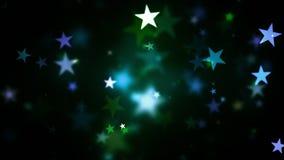 Ζωηρόχρωμα λάμποντας αστέρια διακοπών ελεύθερη απεικόνιση δικαιώματος
