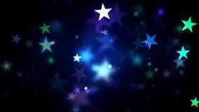 Ζωηρόχρωμα λάμποντας αστέρια φιλμ μικρού μήκους