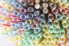 ζωηρόχρωμα άχυρα κατανάλωσης ανασκόπησης Στοκ φωτογραφία με δικαίωμα ελεύθερης χρήσης