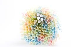 ζωηρόχρωμα άχυρα κατανάλω&si Στοκ Εικόνα