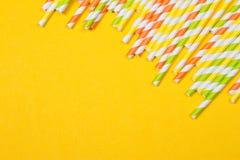 ζωηρόχρωμα άχυρα κατανάλω&si Στοκ εικόνες με δικαίωμα ελεύθερης χρήσης