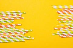 ζωηρόχρωμα άχυρα κατανάλω&si Στοκ φωτογραφία με δικαίωμα ελεύθερης χρήσης