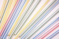 ζωηρόχρωμα άχυρα κατανάλω&si Στοκ Εικόνες