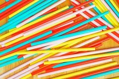 ζωηρόχρωμα άχυρα κατανάλω&si Στοκ Φωτογραφία