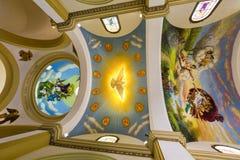Ζωηρόχρωμα έργα ζωγραφικής στο ανώτατο όριο Trujillo του καθεδρικού ναού, Περού Στοκ Εικόνες