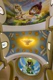 Ζωηρόχρωμα έργα ζωγραφικής στο ανώτατο όριο Trujillo του καθεδρικού ναού, Περού Στοκ εικόνες με δικαίωμα ελεύθερης χρήσης
