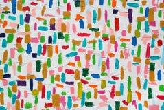Ζωηρόχρωμα ακρυλικά κτυπήματα βουρτσών χρώματος Στοκ Εικόνα