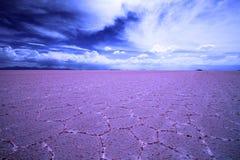 Ζωηρόχρωμα αλατισμένα επίπεδα, Salar de Uyuni, Βολιβία, Νότια Αμερική Στοκ φωτογραφία με δικαίωμα ελεύθερης χρήσης