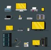 Ζωηρόχρωμα αντικείμενα ασύρματης τεχνολογίας καθορισμένα διανυσματική απεικόνιση
