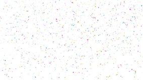 Ζωηρόχρωμα αστέρια κομφετί στο άσπρο υπόβαθρο ελεύθερη απεικόνιση δικαιώματος