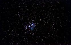 Ζωηρόχρωμα αστέρια του νυχτερινού ουρανού Στοκ Φωτογραφίες