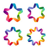 Ζωηρόχρωμα αστέρια Στοκ εικόνες με δικαίωμα ελεύθερης χρήσης