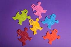 ζωηρόχρωμα λαστιχένια παι&ch Στοκ εικόνα με δικαίωμα ελεύθερης χρήσης