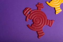 ζωηρόχρωμα λαστιχένια παι&ch Στοκ Εικόνα