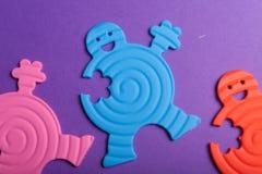 ζωηρόχρωμα λαστιχένια παι&ch Στοκ εικόνες με δικαίωμα ελεύθερης χρήσης