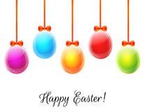 ζωηρόχρωμα αυγά Πάσχας ανα& Στοκ φωτογραφία με δικαίωμα ελεύθερης χρήσης