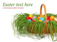 ζωηρόχρωμα αυγά Πάσχας κα&lamb στοκ εικόνα με δικαίωμα ελεύθερης χρήσης