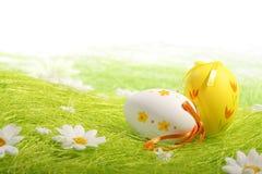 ζωηρόχρωμα αυγά Πάσχας που χρωματίζονται Στοκ φωτογραφίες με δικαίωμα ελεύθερης χρήσης