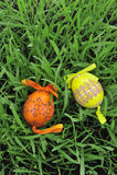 ζωηρόχρωμα αυγά Πάσχας πο&upsil Στοκ Φωτογραφίες