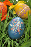 ζωηρόχρωμα αυγά Πάσχας πο&upsil Στοκ Εικόνες