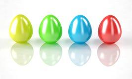 ζωηρόχρωμα αυγά Πάσχας Απεικόνιση αποθεμάτων
