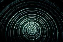 Ζωηρόχρωμα αφηρημένα ίχνη του φωτός Σημεία, γραμμές και bokeh στο σκοτεινό υπόβαθρο Στοκ Εικόνες