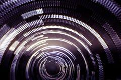Ζωηρόχρωμα αφηρημένα ίχνη του φωτός Σημεία, γραμμές και bokeh στο σκοτεινό υπόβαθρο Στοκ εικόνες με δικαίωμα ελεύθερης χρήσης