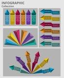 Ζωηρόχρωμα βέλη και πληροφορίες πυραμίδων γραφικές Στοκ Φωτογραφίες