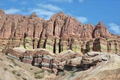Ζωηρόχρωμα βουνά Quebrada de las Conchas, Αργεντινή Στοκ εικόνες με δικαίωμα ελεύθερης χρήσης