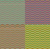 ζωηρόχρωμα γεωμετρικά άνευ ραφής κύματα προτύπων διανυσματική απεικόνιση